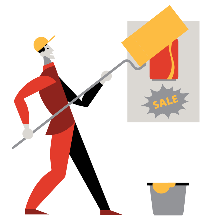 Say NO to marketing Clipart illustration in PNG, SVG