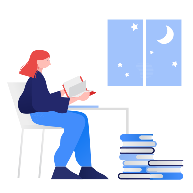 style Studying at night images in PNG and SVG   Icons8 Illustrations