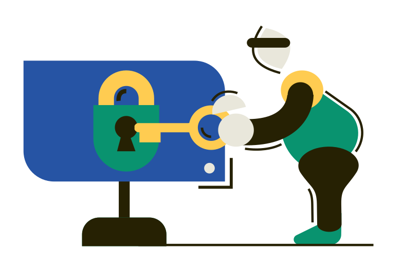Cracking password Clipart illustration in PNG, SVG