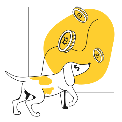 style DogeCoin grows images in PNG and SVG | Icons8 Illustrations