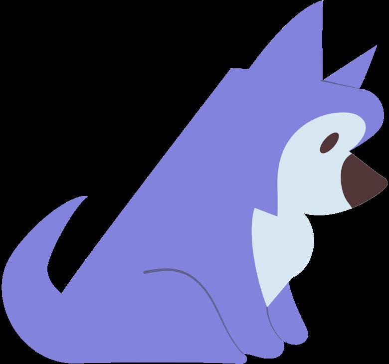 little husky Clipart illustration in PNG, SVG