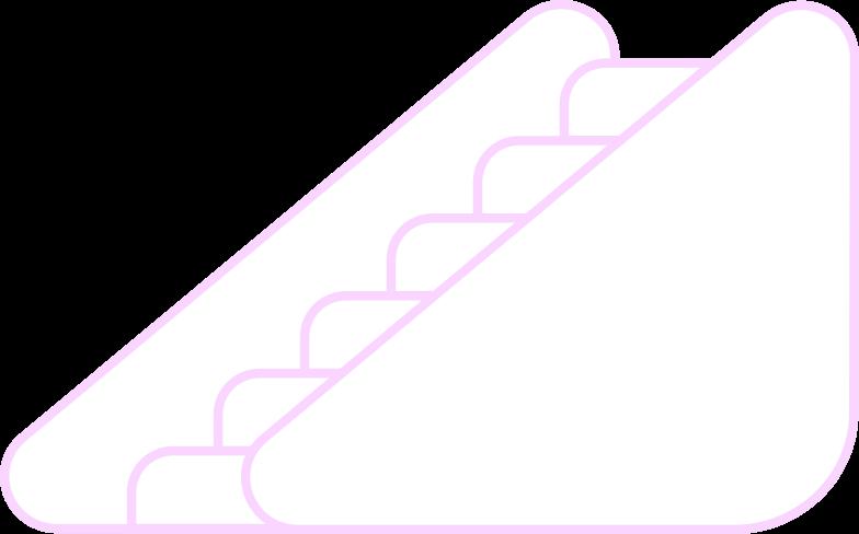 Ilustración de clipart de escalator en PNG, SVG