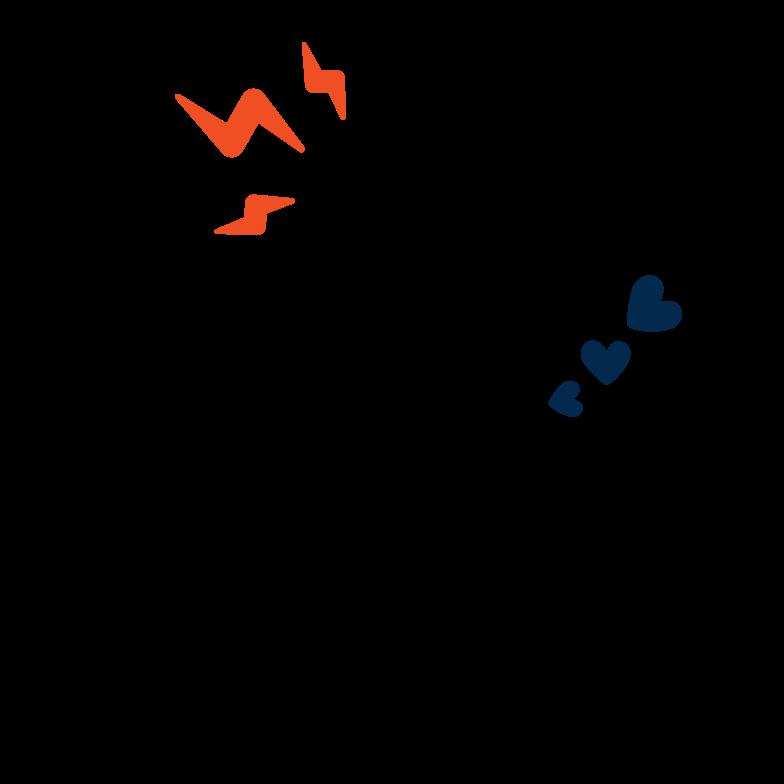 Social media popularity Clipart illustration in PNG, SVG