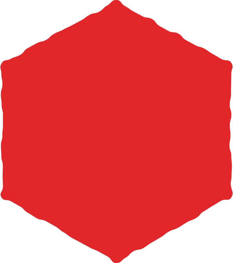 hexagon red Clipart illustration in PNG, SVG