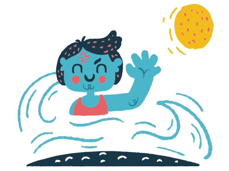 Swimming Clipart illustration in PNG, SVG