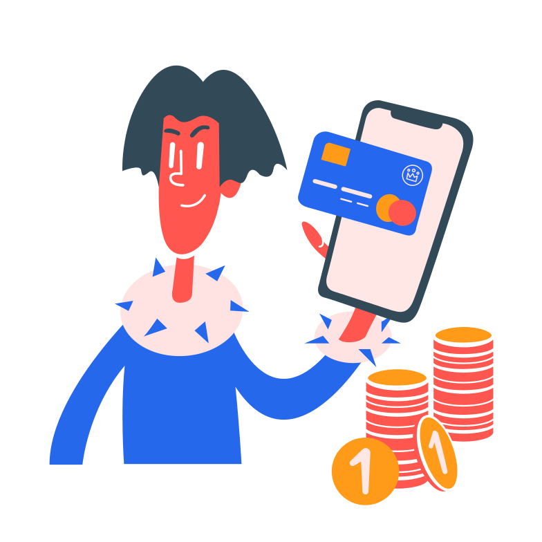 Ilustração de clipart de pagamento por telefone em PNG e SVG