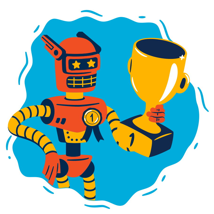 Victory of artificial intelligence Clipart illustration in PNG, SVG