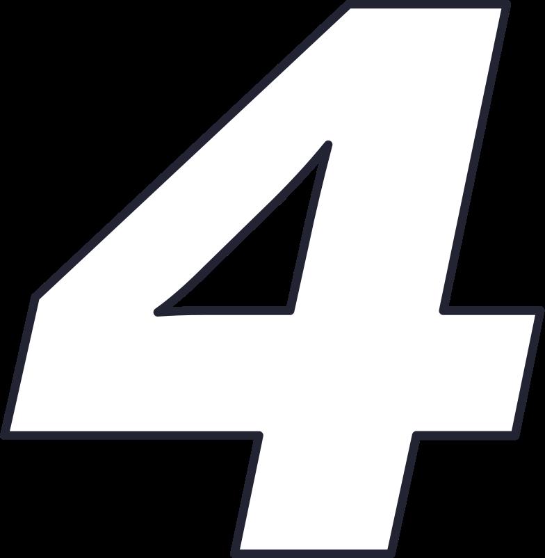 four number Clipart illustration in PNG, SVG