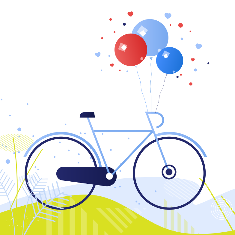 New bicycle Clipart illustration in PNG, SVG