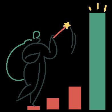 Иллюстрация Темпы роста в стиле  в PNG и SVG | Icons8 Иллюстрации