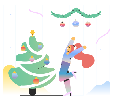 style Happy about Christmas images in PNG and SVG | Icons8 Illustrations