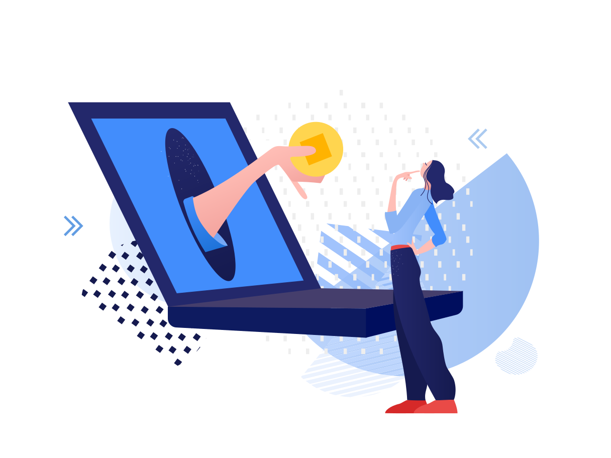 Online working Clipart illustration in PNG, SVG