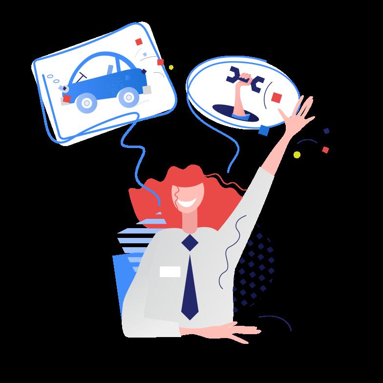 Car service support Clipart illustration in PNG, SVG