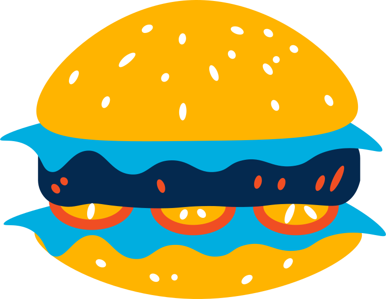 Immagine Vettoriale hamburger in PNG e SVG in stile  | Illustrazioni Icons8