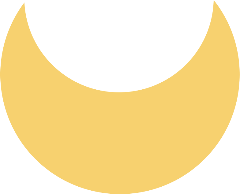 crescent yellow Clipart illustration in PNG, SVG