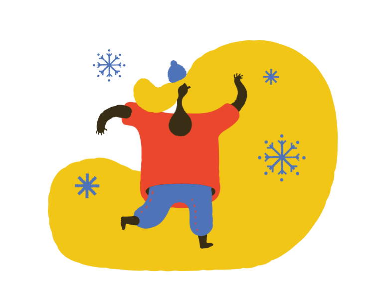 Winter snowflakes Clipart illustration in PNG, SVG