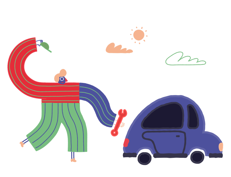 style Fixing the car Vector images in PNG and SVG | Icons8 Illustrations