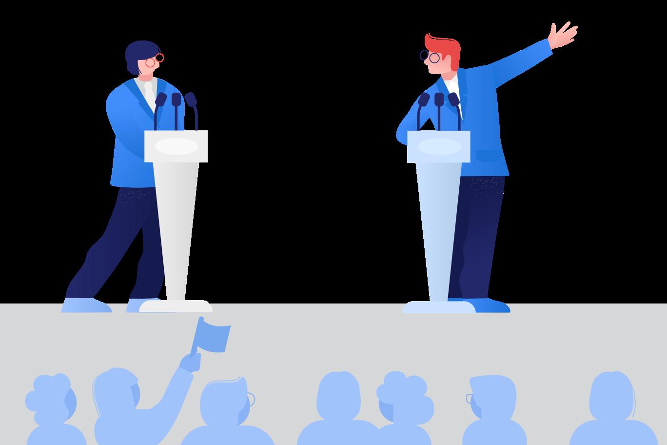 Political debates Clipart illustration in PNG, SVG