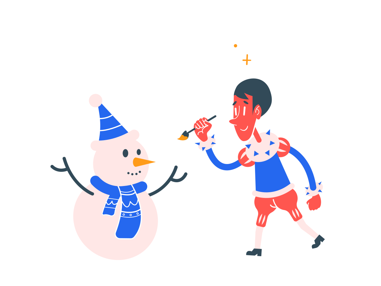 Decoration snowmen Clipart illustration in PNG, SVG