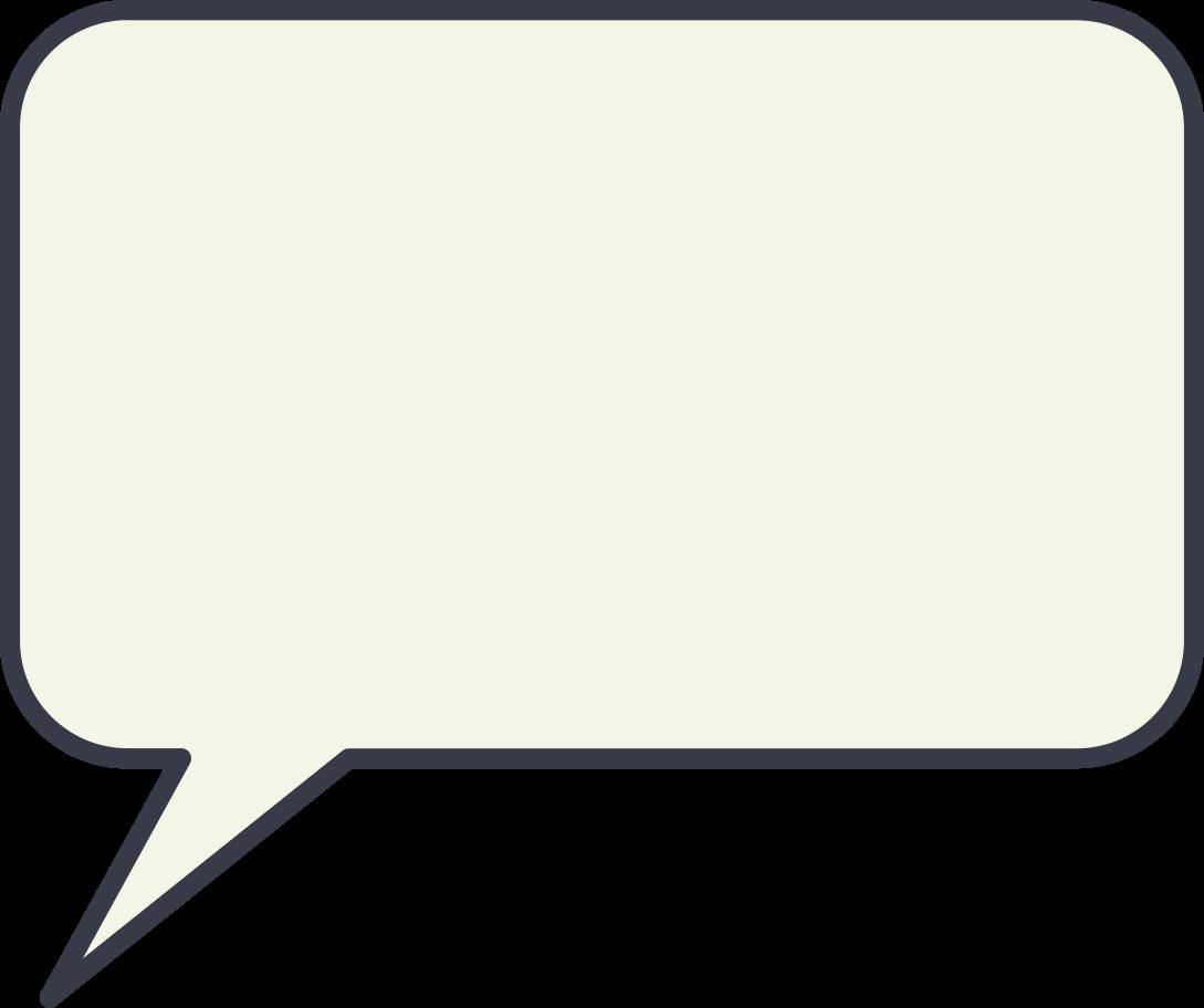 Ilustración de clipart de Burbuja de diálogo en PNG, SVG