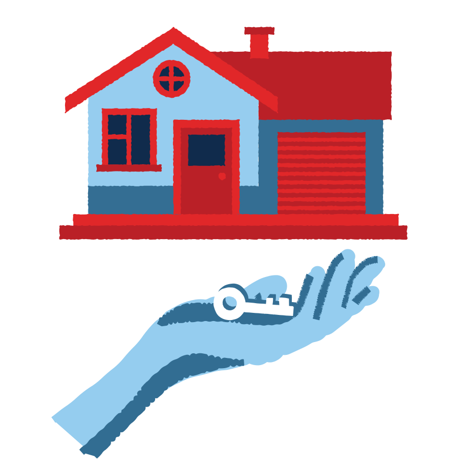 House rent Clipart illustration in PNG, SVG