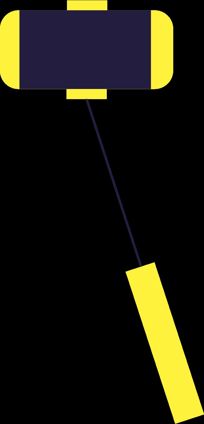 vlogging  selfie stick Clipart illustration in PNG, SVG