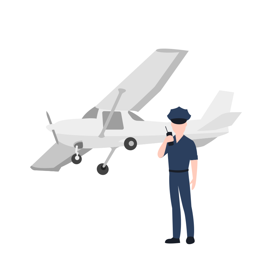 Plane is ready to flight Clipart illustration in PNG, SVG