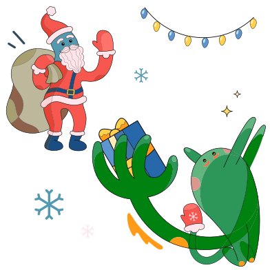 style Santa delivering presents images in PNG and SVG | Icons8 Illustrations