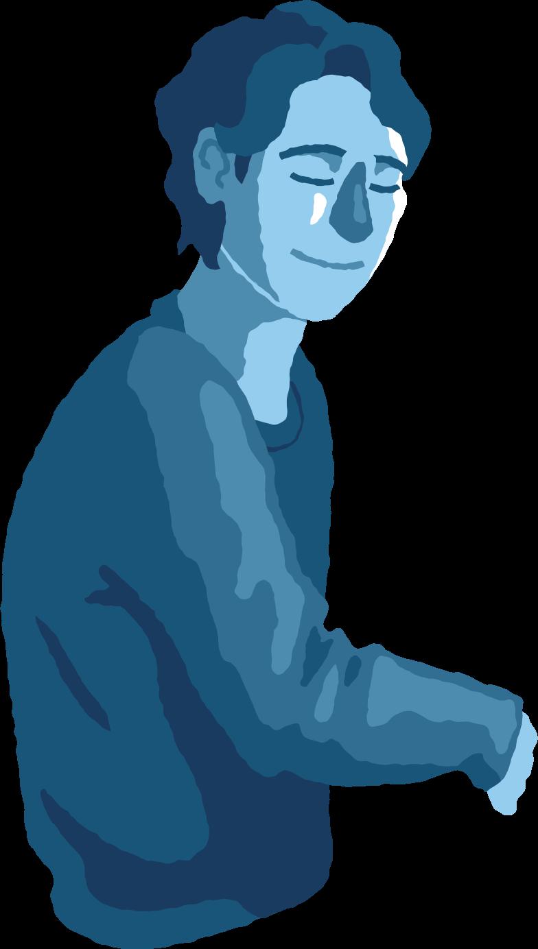 平和な男の胴体 のPNG、SVGクリップアートイラスト