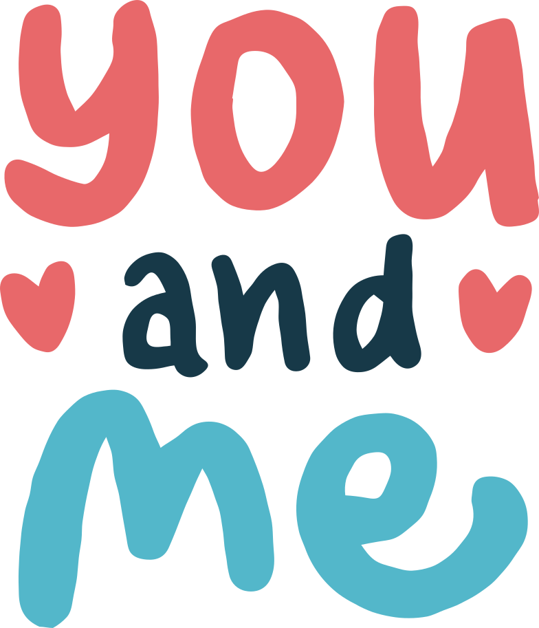 you and me Clipart illustration in PNG, SVG