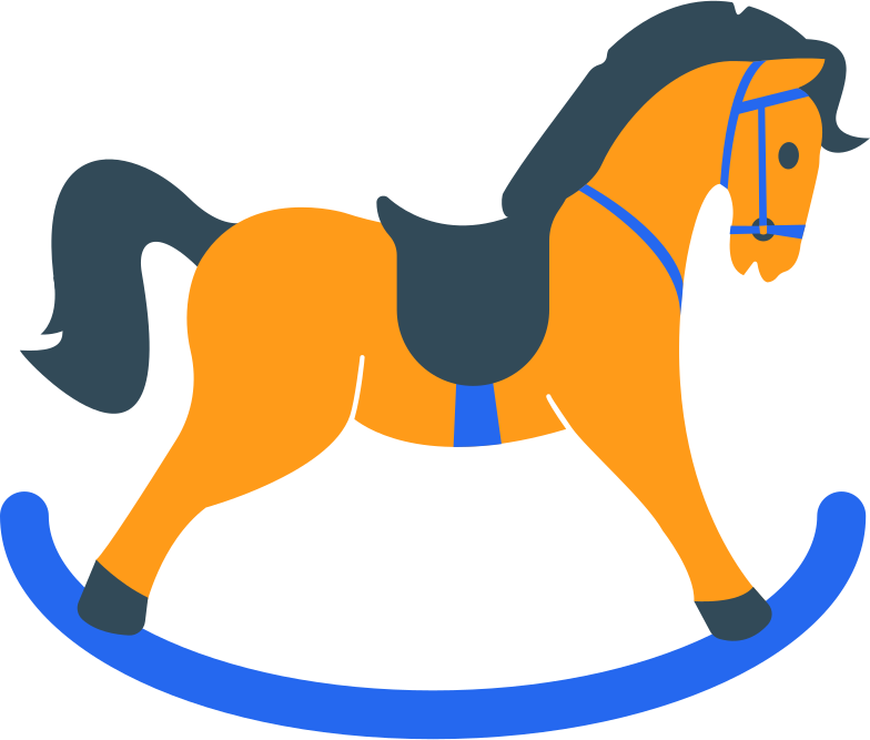 style rocking horse Vector images in PNG and SVG | Icons8 Illustrations