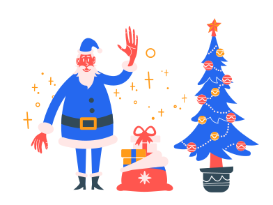 style Santa with presents images in PNG and SVG | Icons8 Illustrations