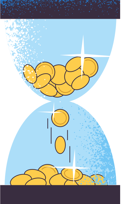 style sandglass-with-money images in PNG and SVG   Icons8 Illustrations