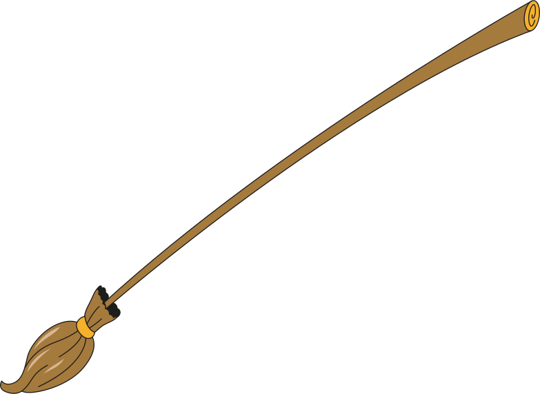 witch's broom Clipart illustration in PNG, SVG