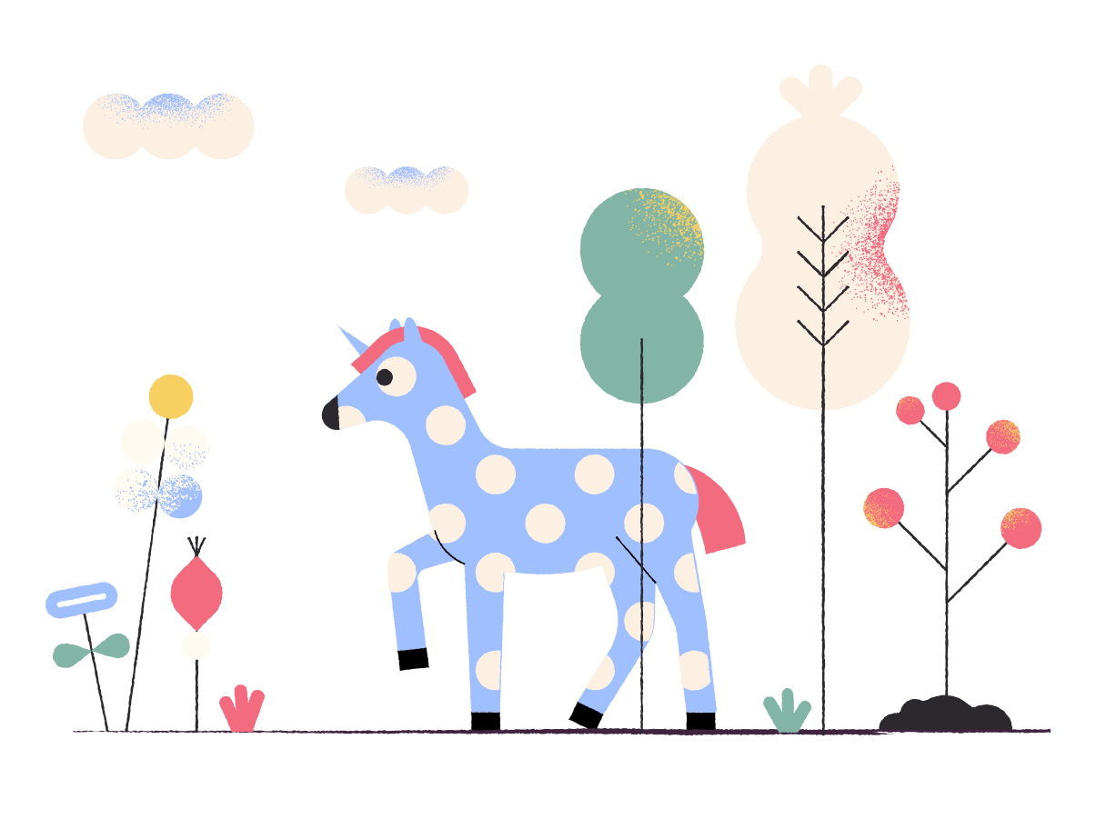 Horse in colorful wood Clipart illustration in PNG, SVG