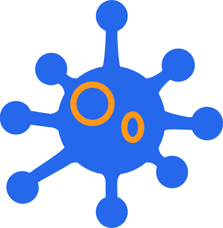 blue coronavirus Clipart illustration in PNG, SVG