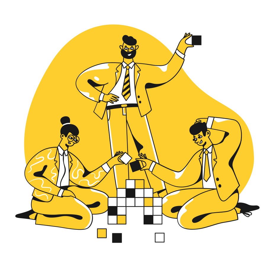 Teamwork in office Clipart illustration in PNG, SVG
