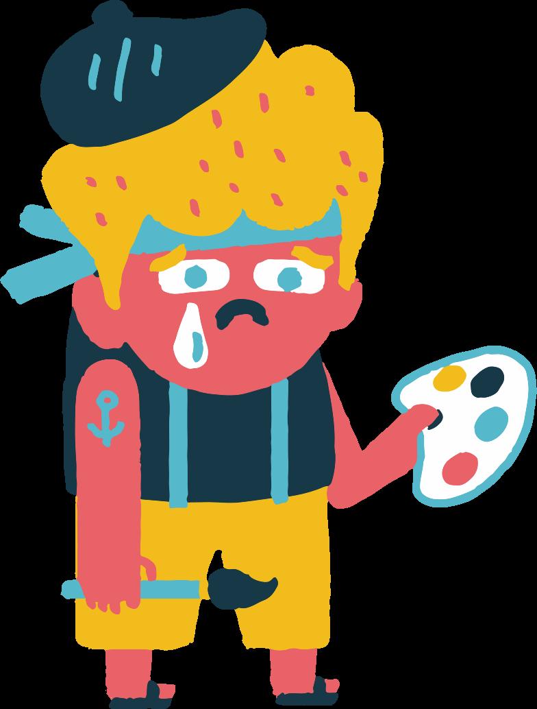 sad artist Clipart illustration in PNG, SVG