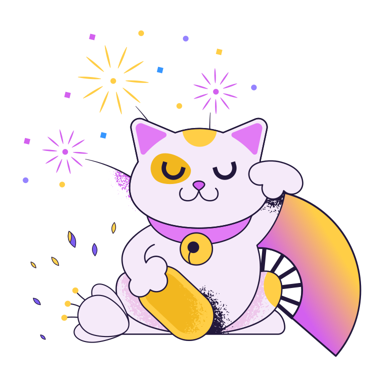 style Chinese cat Vector images in PNG and SVG | Icons8 Illustrations