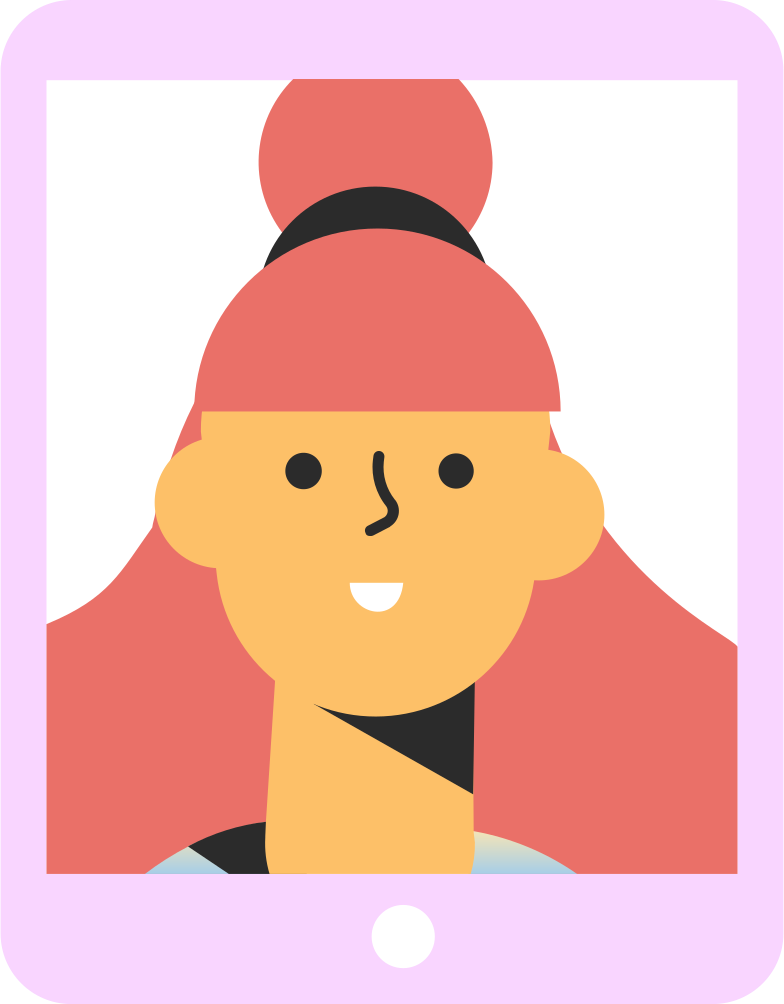 style tablet girl Vector images in PNG and SVG | Icons8 Illustrations
