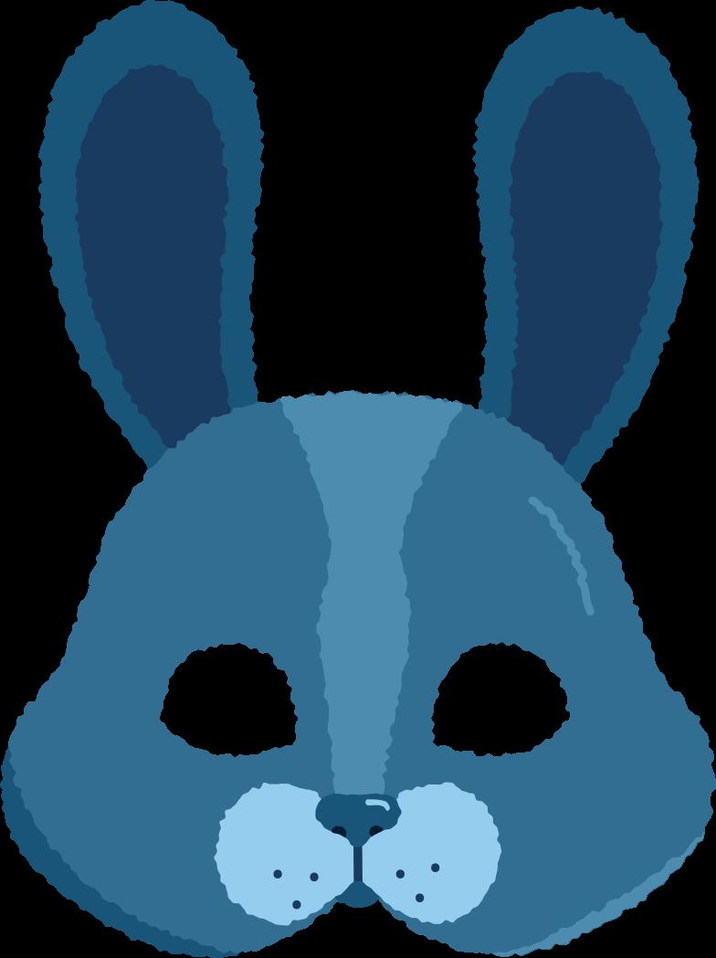 mask rabbit Clipart illustration in PNG, SVG