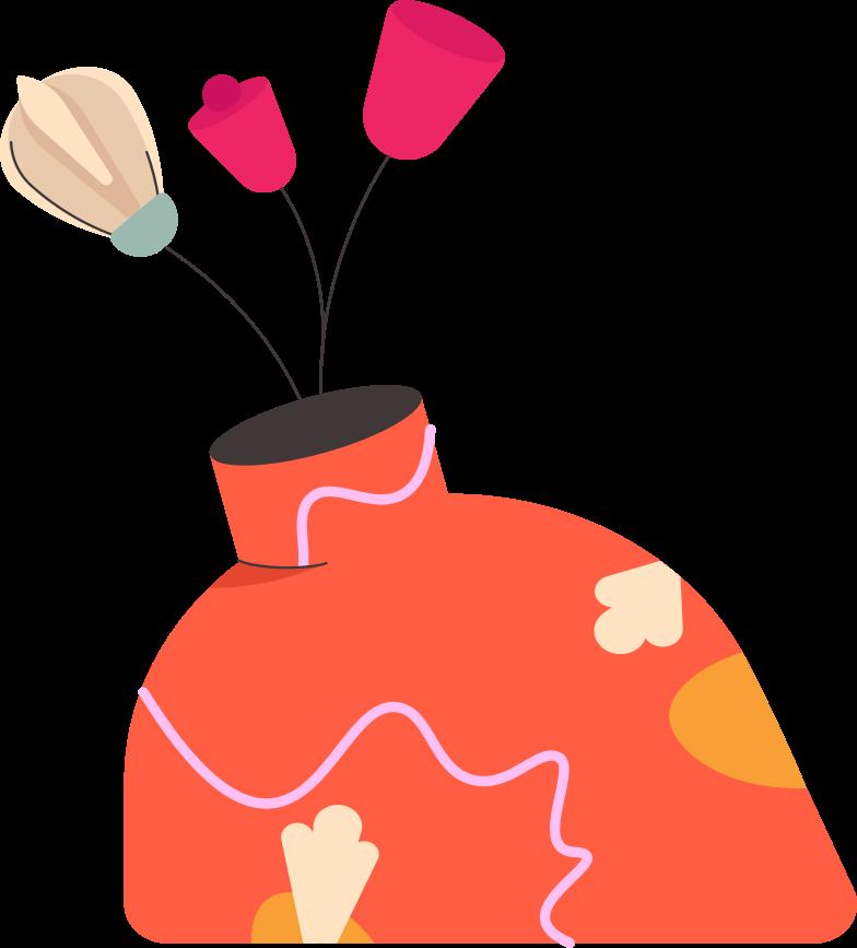 Blumen in der vase Clipart-Grafik als PNG, SVG