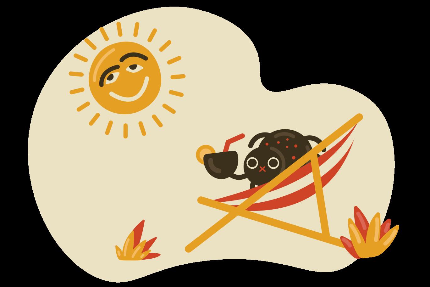 Enjoying cocktail Clipart illustration in PNG, SVG