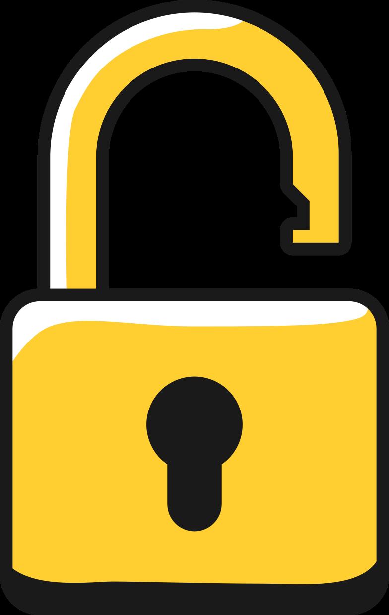lock unlocked Clipart illustration in PNG, SVG