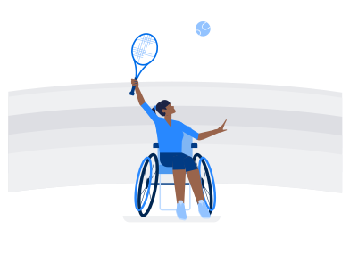 Иллюстрация Паралимпийские игры в стиле  в PNG и SVG | Icons8 Иллюстрации