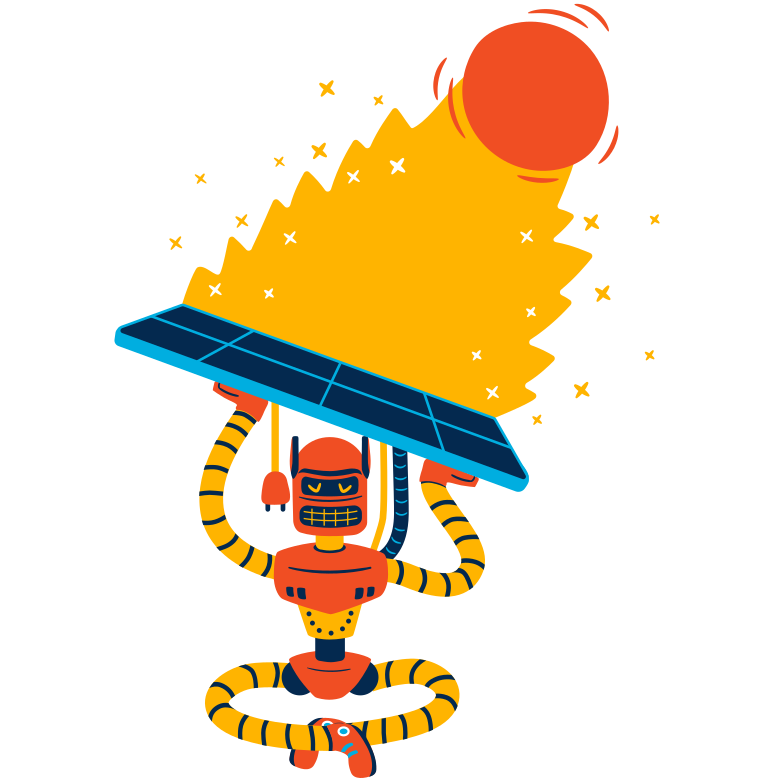 Solar energy charging Clipart illustration in PNG, SVG
