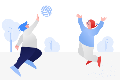 style Playing volleyball images in PNG and SVG | Icons8 Illustrations