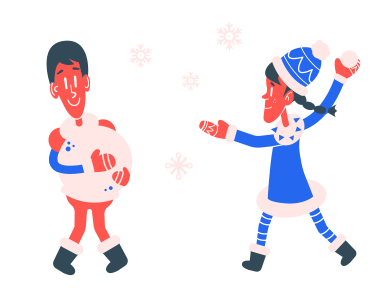 style Snowball fight images in PNG and SVG | Icons8 Illustrations
