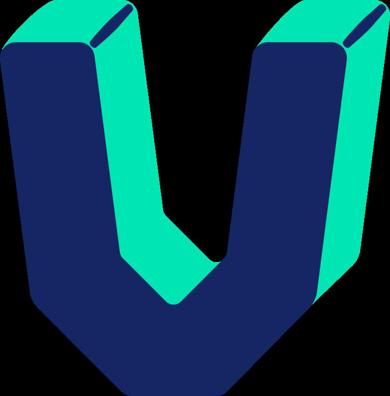letter v Clipart illustration in PNG, SVG