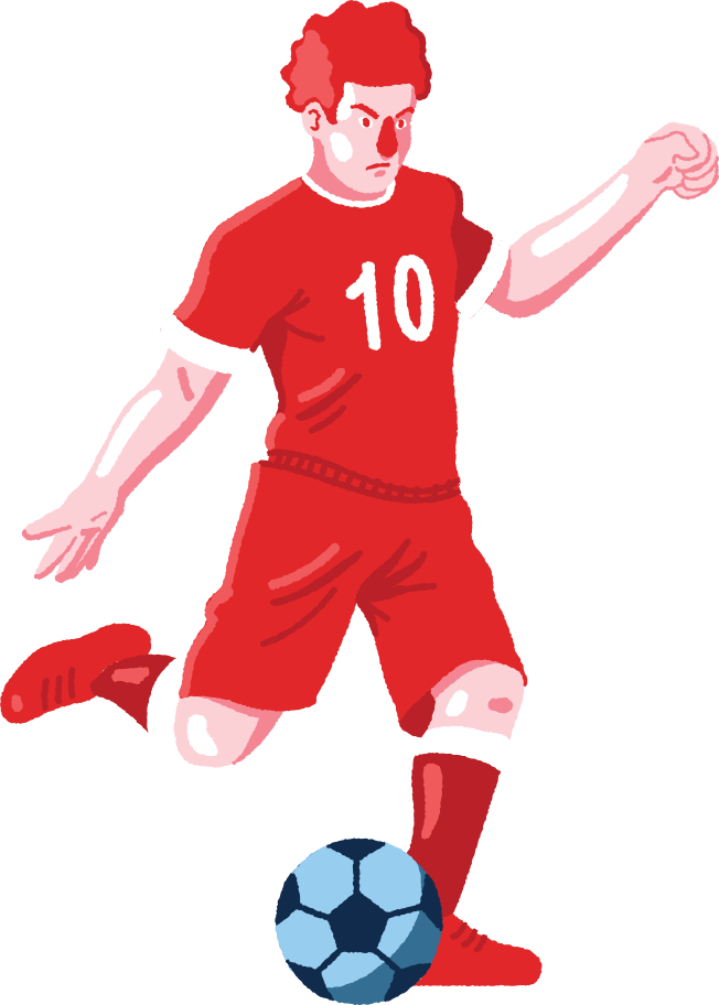 football Clipart illustration in PNG, SVG